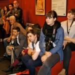 Interessierte Mienen bei der Kinolounge mit Christian Petzold