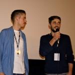 Ryan Haysom und Jon Britt (Yellow) in der Kinolounge