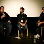 Frédéric Jaeger (critic.de), Matthias Leitner (Bayern 2) und Michael Fleig (Regensburger Kurzfilmwoche) im Gespräch zu Lyonnais