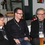 Klaus Eberl und Reinhold Zwick im Gespräch mit Festivalleiter Sasha Keilholz