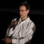 Autor Christophe Fricker in der Kinolounge zu Drive
